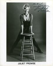 "JULIET PROWSE  ""G.I. BLUES"" WITH ELVIS PRESLEY ACTRESS SIGNED PHOTO AUTOGRAPH"