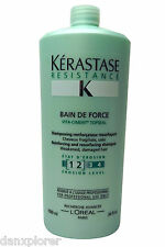 KERASTASE ** BAIN DE FORCE  ** VITA CIMENT TOPSEAL **  SHAMPOO 34 oz/ 1000mL