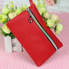 New Fashion Womens Mens Card Holder Wallet Coin Purse Change Bag Wristlet Zip