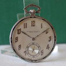 ART DECO VACHERON & CONSTANTIN PLATINUM ENAMEL POCKET WATCH