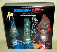 Galaxy Express 999 albator 3 light figures set HARLOCK EMERALDAS MAETEL mint box