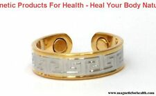 BIO-MAGNETIC THERAPY RING 3301 GOTHIC STYLE SILVER / GOLD PLATED ON COPPER