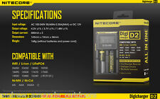 Nitecore Digicharger D2 2015 Charger for Li-ion IMR LiFePO4 Ni-MH Ni-Cd