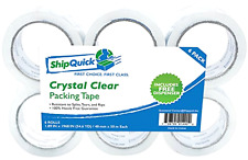 HEAVY DUTY CLEAR DUCT PACKING TAPE SCOTCH 6 ROLLS PACKAGING SEALING W DISPENSER