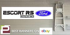 Ford escort rs cosworth bannière pour atelier, garage, bureau, pvc avec oeillets