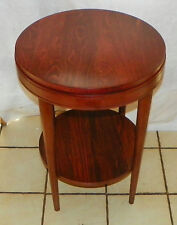 Round Mid Century Cherry End Table / Side Table  (T291)