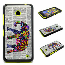 Plastic Smart Elephant Back Phone Hard Cover Case Skin For Nokia Lumia 630