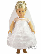 "AFW BRIDAL COMMUNION DRESS for 18"" Dolls NEW Wedding Gown"