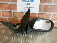 FIAT MAREA BRAVA 2002 OS DRIVER SIDE MANUAL DOOR WING MIRROR BLACK PLASTIC