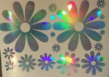 Large Daisy Daisies Flower Rainbow Holographic Car Decal Sticker Laptop 01-03