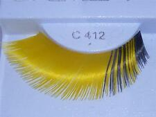 New False Eyelashes Yellow Black Fake Lashes Costume Party Halloween Drag Queen
