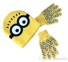 Kinder Minions mütze und rutschfeste handschuhe Set