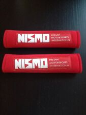 2Pcs Nismo Red  Car Seat Belt Cushions Shoulder Pads Universal Nissan Motorsport