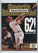 Sports Illustrated Extra Addition Mark McGwire 62 Home Runs No Label 1988 Maris