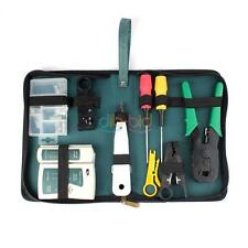 Network Cable Tester Wire Crimp Stripper LAN RJ45 RJ11 CAT5 Analyzer Tool Kit OZ