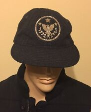 Rare Ralph Ralph Lauren polo  General Hat Flannel Cap Medium Navy made in USA
