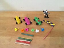 Vintage RACE CAR RACING Birthday Cake Toppers & Candles & Flower Candle Holders
