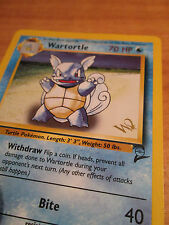 NM Gold W Stamped Pokemon WARTORTLE Card BASE-2 Set PROMO 63/130 Wizards Coast
