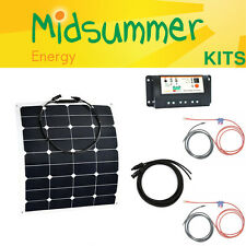 50W 12V Semi-Flexible Dual Control Solar Kit - caravans, yachts, pop-tops, RVs