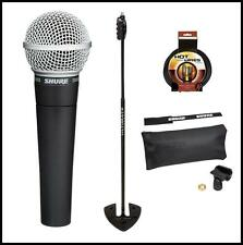 Shure SM58-LC Vocal Microphone Ultimate Support Live-SB Stand + XLR Cable
