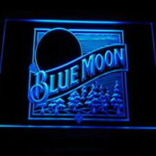 BLUE MOON LED neon light sign bar beer pub