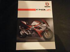 PUBBLICITA MOTO BIMOTA DB7 CARTONATA CON SCHEDA TECNICA