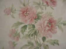 "SANDERSON CURTAIN FABRIC DESIGN ""Adele"" 3.6 METRES ROSE & CREAM DCAVAD201"