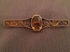 """Brosche """"Altes Land"""" 585 Gold/ Goldtopas/ um 1900"""
