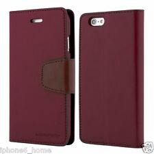 Genuine MERCURY Goospery Leather Flip Case Wallet Cover For Apple iPhone 5/5s/SE