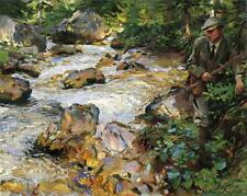 John Singer Sargent Oil Painting repro Trout Stream in the Tyrol