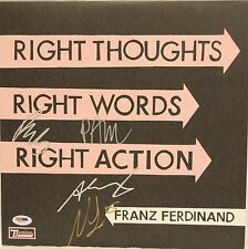 "FRANZ FERDINAND ""Right Thoughts Right Words Right Action"" Album PSA/DNA #V50171"