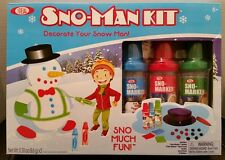 Ideal Sno-Man Kit Snow Man Decorating Kit Sno-Marker Bottles Top Hat Carrot NEW