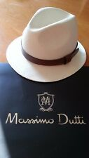 MASSIMO DUTTI MEN 2015 LUXURY LIMITED EDITION HAT PANAMA LEATHER BAND R.3200/363