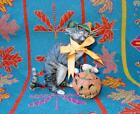Bethany Lowe Halloween Witch Cat with Pumpkin Vergie Lightfoot