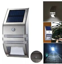 Wireless PIR Motion Sensor Solar LED Security Flood Wall Garden Outdoor Light