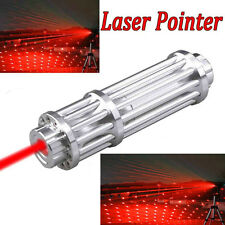 New Military Powerful Red Laser Pointer Pen Beam Light Adjustable Flashlight