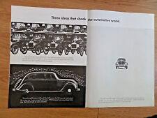 1966 VW Volkswagen Ad Three Ideas that Shook the Automotive World