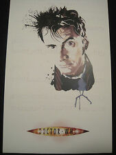 Dr. Who Lithograph- 10th Doctor David Tennant! In color!   11x17 inches! LOOK!