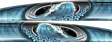 Hawaiian Wave Surfboard hibiscus Vehicle Boat Car Truck Graphics Decal Stickers
