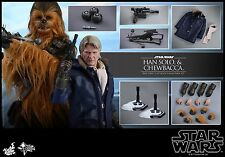 Hot Toys MMS376 Star Wars: The Force Awakens 1/6th Han Solo & Chewbacca Figure