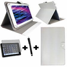 3er Set 10.1 zoll Tablet Tasche + Folie + Stift Acer Iconia A500 - 3in1 Weiß 10