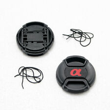 2X 77mm Front Lens Cap For Sony Others DSLR Lens With Cord Center-Pinch Sna