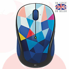 Logitech Wireless Mouse M325c Nano cordless optical mini Mice Blue Facets