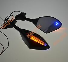 Black LED TURN rear view mirrors for Yamaha YZF R1 1998-2001 R6 1999-2005