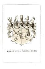Araldica stemma araldico della famiglia Torriani Conti di Valsassina
