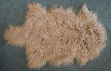 Tibet Peau De Mouton, D'agneau comme Gotland marron beige coloré de la Tannerie