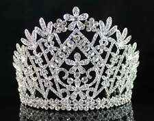 DAISY CLEAR AUSTRIAN CRYSTAL RHINESTONE TIARA CROWN BRIDAL PROM PAGEANT T1861