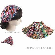 6pcs Women Aztec Bandana Turban Head Wrap Headband  Hair Band Workout Yoga Lots