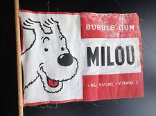Rare fanion Tintin Milou Bubble gum
