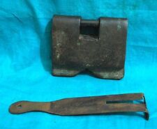 Antique Rare Hand Forged Iron Tribal Pad Lock With Key-Working Condition